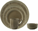 Gien Pont Aux Choux Taupe 4 Piece Dinnerware Placesetting