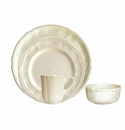 Gien Pont Aux Choux White 4 Piece Dinnerware Placesetting