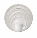 Gien Pont Aux Choux White 5 Piece Dinnerware Placesetting