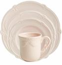 Gien Rocaille Rose Poudre 4 Piece Dinnerware Placesetting