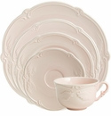 Gien Rocaille Rose Poudre 5 Piece Dinnerware Placesetting