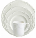 Gien Rocaille White 4 Piece Dinnerware Placesetting