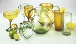 Global Amici Antigua Margarita Glasses (4) - Green