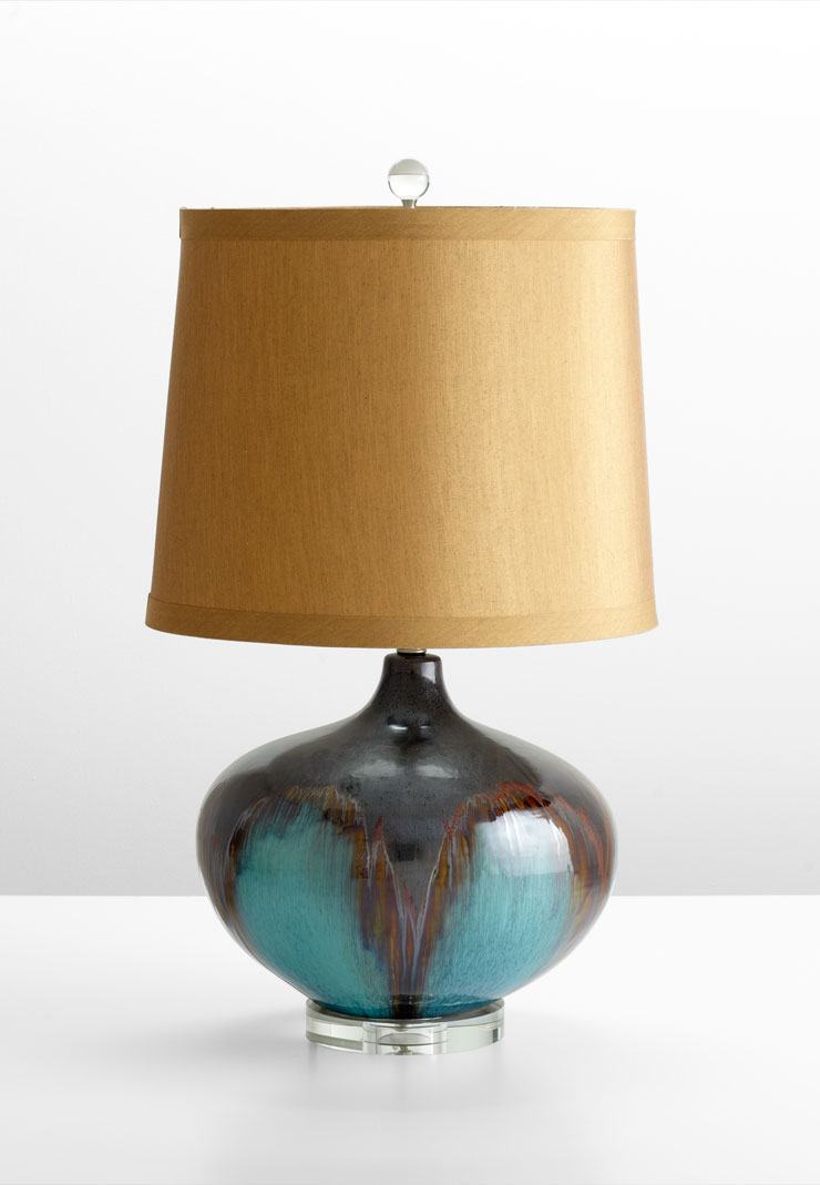 Gough turquoise ceramic table lamp by cyan design for Ceramic table lamps