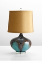 Gough Turquoise Ceramic Table Lamp by Cyan Design