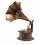 Gramophone Bluetooth Speaker Sculpture by SPI Home