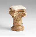 Greek Column Wood Stool by Cyan Design