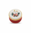 Halcyon Days Christmas Candles Porcelain Box
