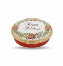Halcyon Days Happy Holidays Porcelain Box