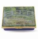 Halcyon Days Lilypond Claude Monet Enameled Box