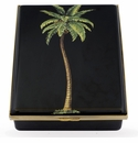 Halcyon Days Magnificent Wildlife Palm - Black Enameled Box