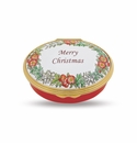 Halcyon Days Merry Christmas Porcelain Box