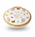 Halcyon Days My World Is A Happier Place keepsake Box