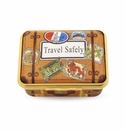 Halcyon Days Travel Safely Enameled Box