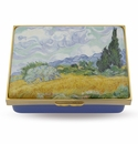 Halcyon Days Wheatfield with Cypresses Vincent Van Gogh Enameled Box