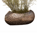 "Hammered Nickel ""Dimple"" Centerpiece Home Decor"