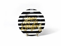 Happy Everything Black Stripe Big Platter With Champagne Attachment