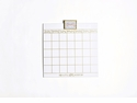 """Happy Everything Magnetic Dry Erase 18"""" Wall Calendar With Gold Frame Attachment And Month Inserts"""