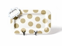 Happy Everything Neutral Dot Entertaining Mini Platter With Now Serving Mini Attachment