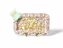 Happy Everything Toss Mini Rectangle Platter With Sparkle Cake Attachment