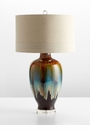 Hayes Acid Washed Ceramic Table Lamp by Cyan Design