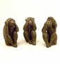 Hear, See and Speak No Evil Monkey Sculptures (Set of 3) by SPI Home