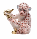 Herend Porcelain Monkey Figurines