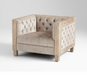 Heritage Oak Tufted Chair by Cyan Design