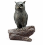 Hooting Owl with Bluetooth Speaker Sculpture by SPI Home