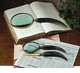 Horn & Antique Brass Magnifying Glass Set Home Decor