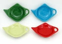 Hues & Brews Assorted Tea Caddie Set Scarlet, Juniper, Blue, Green