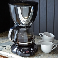 iCoffee Black & Chrome Coffee Maker by Remington