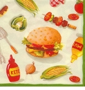 Ideal Home Range 20 ct Cocktail Napkins - Burger Party