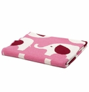 in2green Elephant All Over Pink Baby Blanket