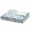 in2green Morocco Blue Pond/Milk Reversible Throw