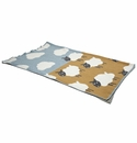 in2green Sheep Blue Pond/Straw Baby Blanket
