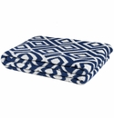 in2green Throws Mod Square Cobalt Throw