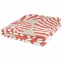 in2green Throws Nautilus Coral/Flax Throw