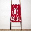 in2green Throws Stag with Vine Cherry Throw