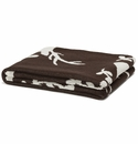 in2green Throws Stag with Vine Chocolate Throw