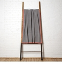 in2green Throws Woven Square Aluminum/Smoke- Border Coral Throw