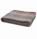 in2green Throws Woven Square Chocolate/Milk Border-Spice Throw