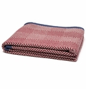 in2green Throws Woven Square Pom/Flax-Border Slate Throw