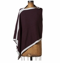 in2green Wrap Poncho Merlot with Aluminum Trim