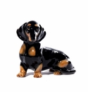 Intrada Italy Black & Brown Dachshund Dog Statue