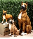 Intrada Italy Boxer Sitting Dog Statue