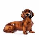 Intrada Italy Brown Dachshund Dog Statue