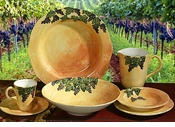 Intrada Italy Bunches of Grapes Dinnerware