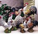 """Intrada Italy Campagna 13"""" Colored Rooster Statue"""