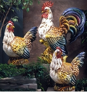 Intrada Italy Campagna Rooster & Hen Statues